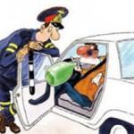 Пьяный водитель. Наказание: штраф, клеймо на номер или дырка в права.