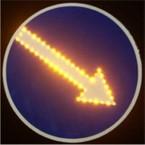 Светодиодный дорожный знак